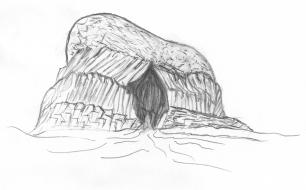 The island of Staffa, & Fingal's Cave.