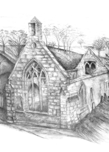 A meditation on Balantrodoch, Templar headquarters for southern Scotland from the mid 1100's. The church ruins remain in a sleepy bend along an out-of-the-way lane south of Edinburgh.