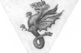 Wyverns are mythical creatures. Read more about them in The Häling and the Scottish Templars!