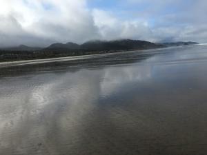 Tides, Letting go, footprints L.S. Berthelsen, Oregon coast, Cannon Beach, Marine Garden,