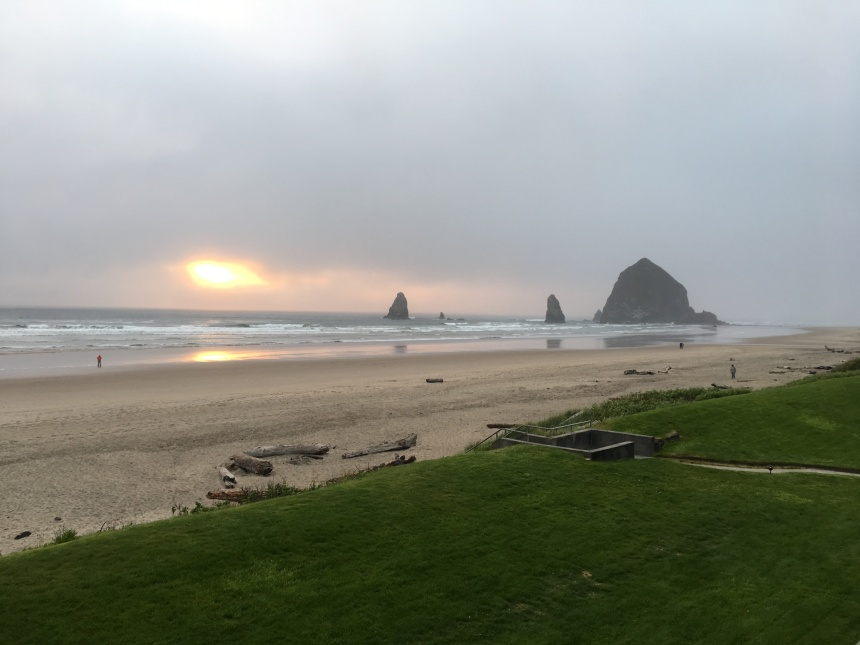 Haystack Rocks, Cannon Beach, Sunset, L.S. Berthelsen, paradise, Featured Photo