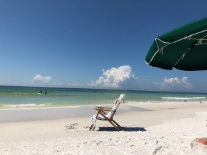 beach, chair, Destin, Florida, calming meditations
