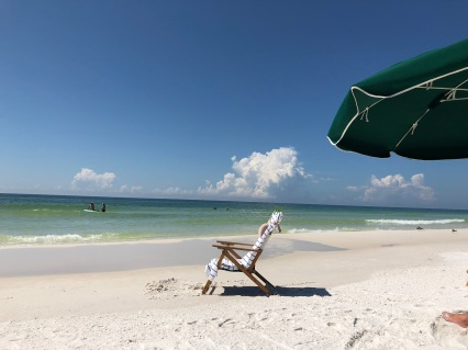beach, chair, Destin, Florida, calming meditations